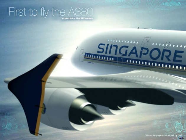 Wallpaper Airbus A380 Singapore Airlines   Photos and Walls 630x473