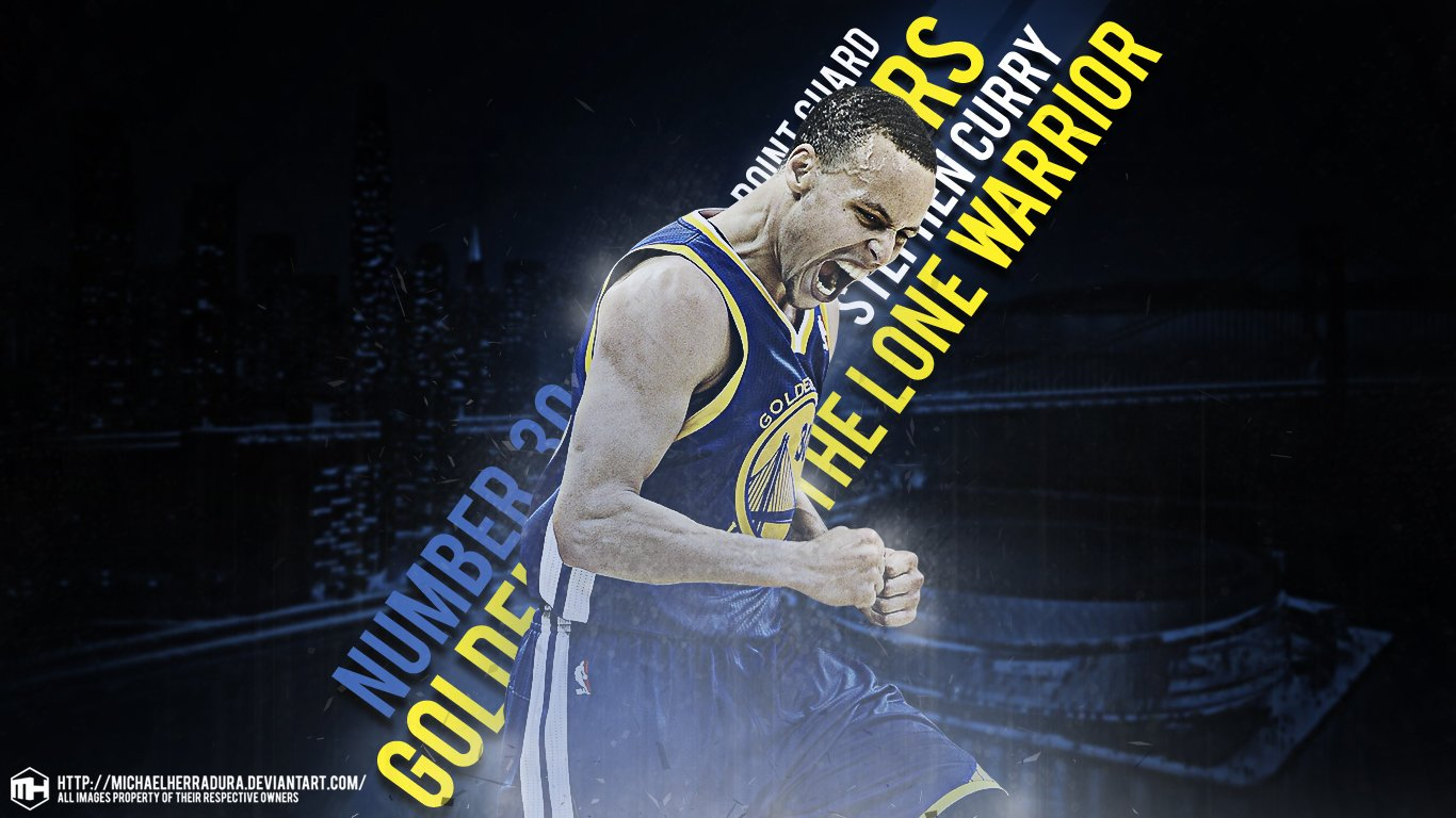 Stephen Curry LONE WARRIOR Wallpaper For Windows cute Wallpapers 1366x768
