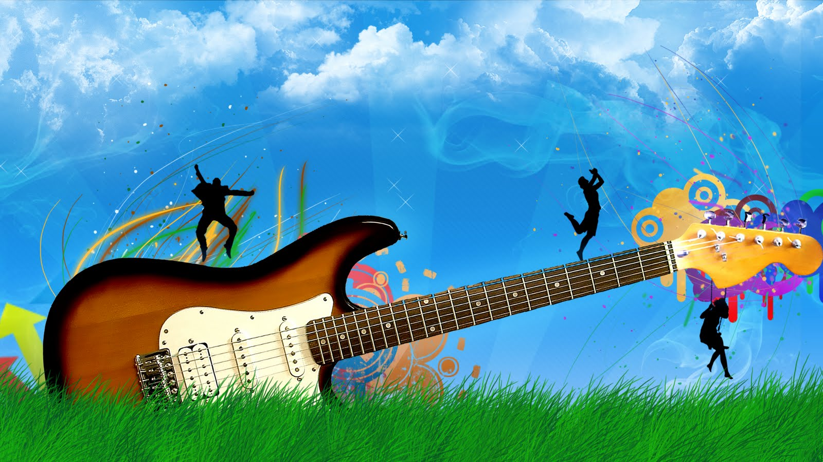 Wallpapers Box Vector Guitar High Definition Desktop Wallpapers 1600x900
