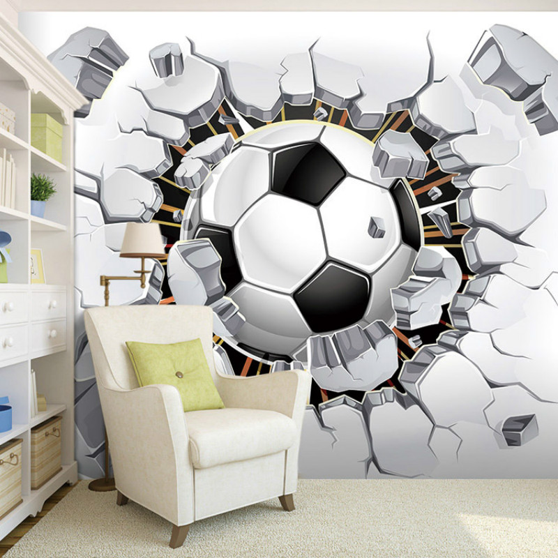 Custom 3D stereoscopic Poqiang football wallpaper for wall 3d 800x800