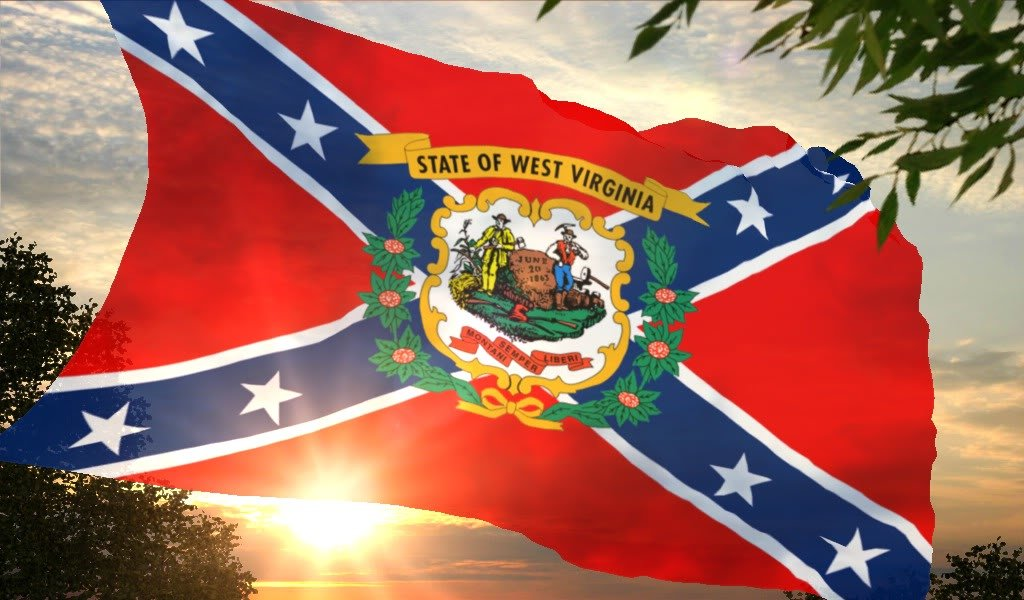 West Virginia Confederate flag wallpaper photo WVRebel1 1jpg 1024x600