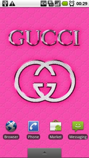 View bigger   GUCCI PINK Wallpaper Clock for Android screenshot 288x512