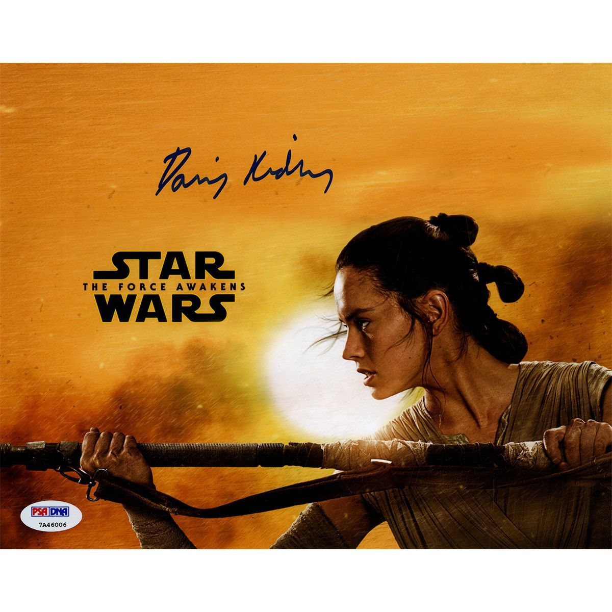 Daisy Ridley Signed Rey Star Wars The Force Awakens Yellow 1200x1200