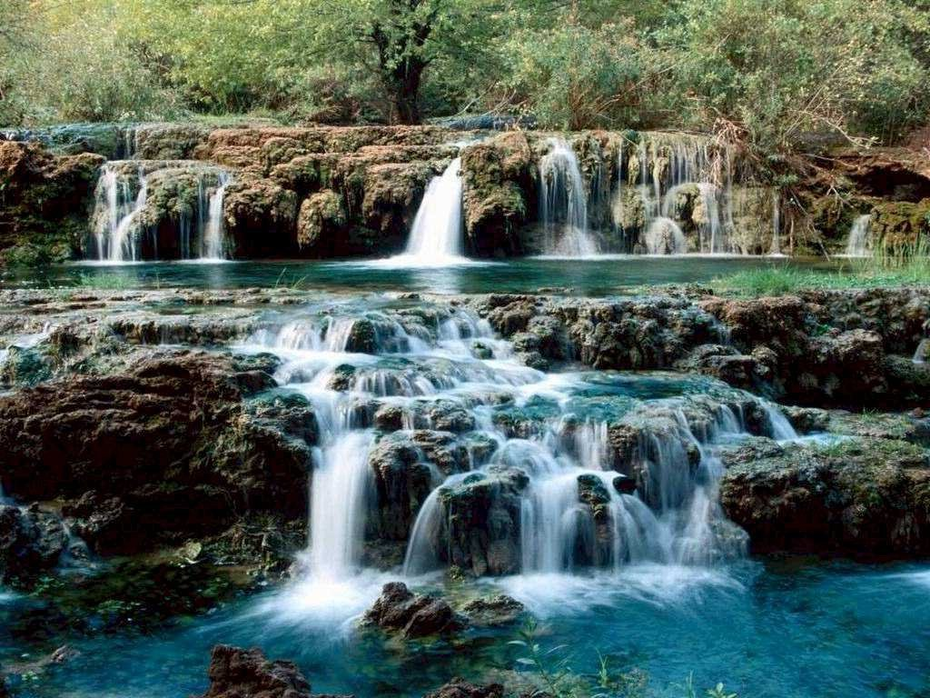 Kinds Of Wallpapers Natural Waterfall Wallpaper 1024x768