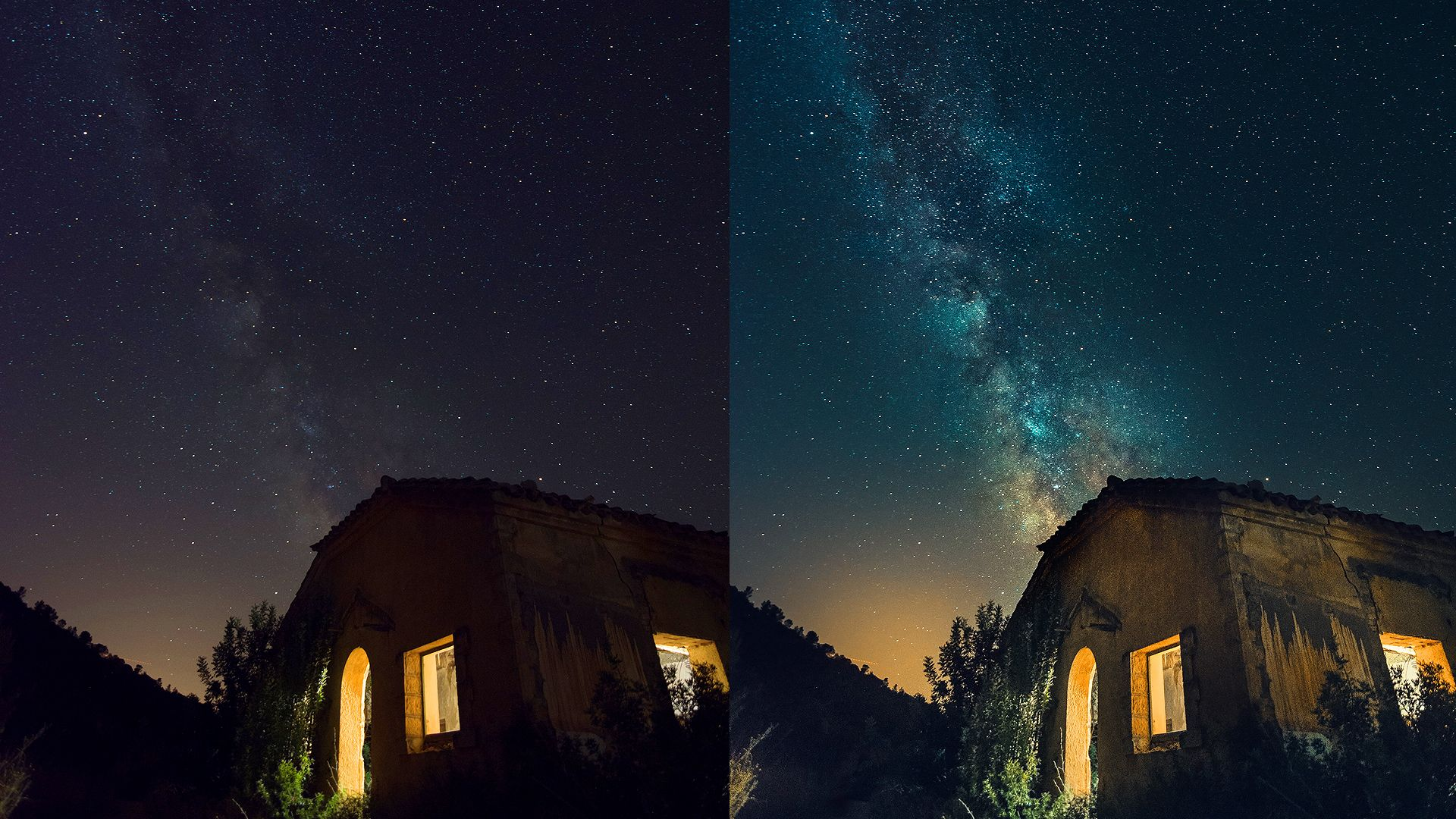 Edit Milky Way images to get contrast Colors   300 1920x1080