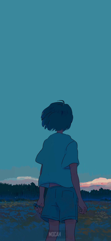 401391 anime anime girl short hair simple dark hair wallpaper 1385x3000
