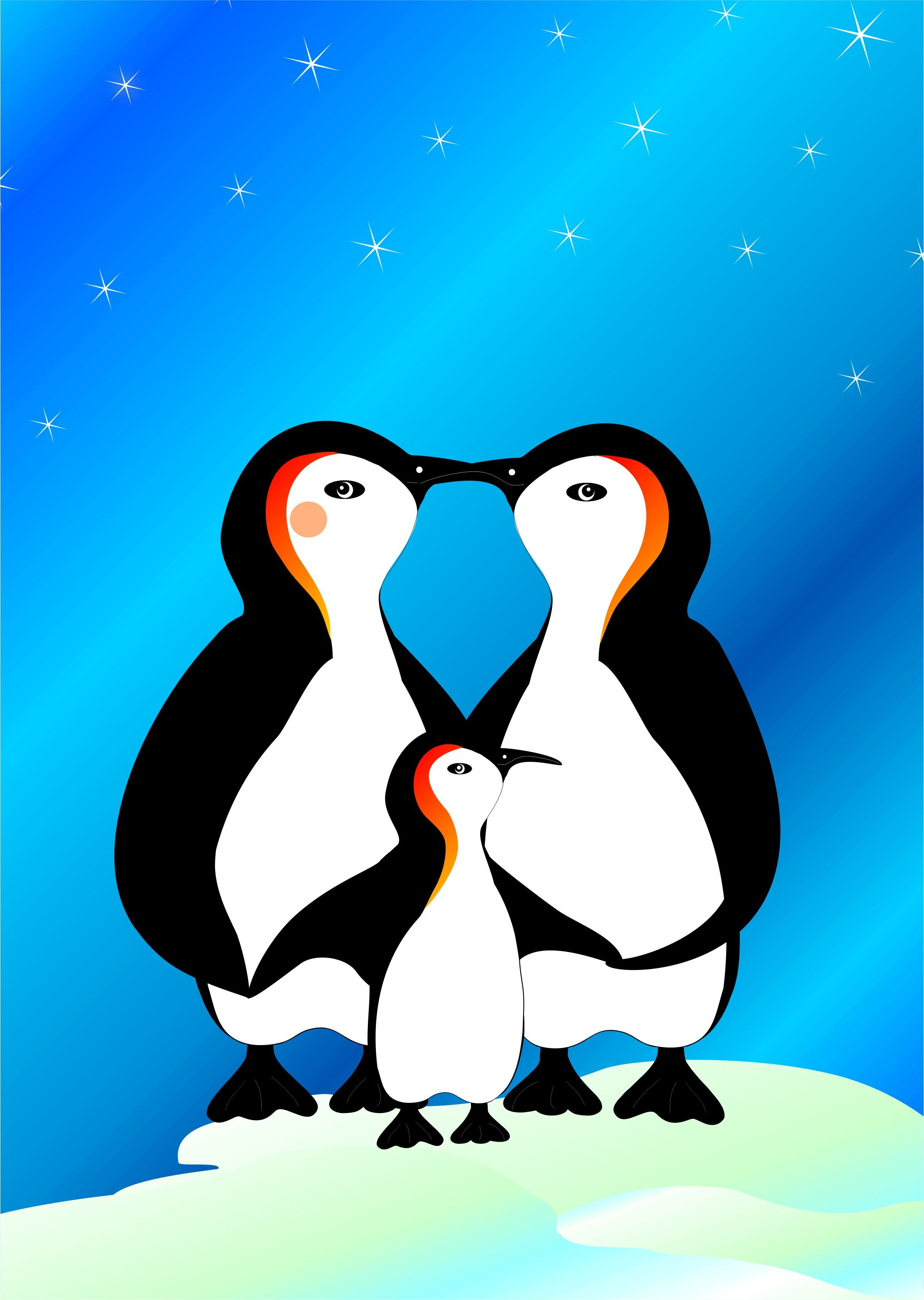 Download wallpaper 2190x3080 penguins art family love hd background 2190x3080