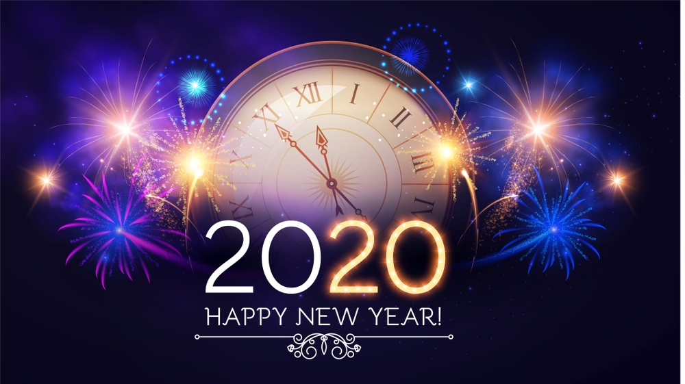Happy New Year 2020 Wallpapers   New Year 2020 Images 1000x561