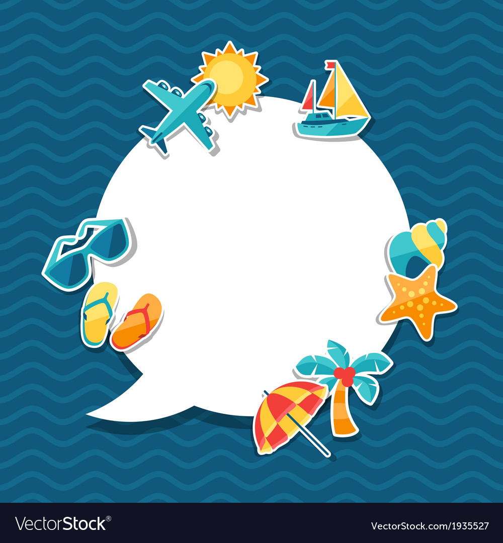 Travel and tourism background Royalty Vector Image 1000x1080