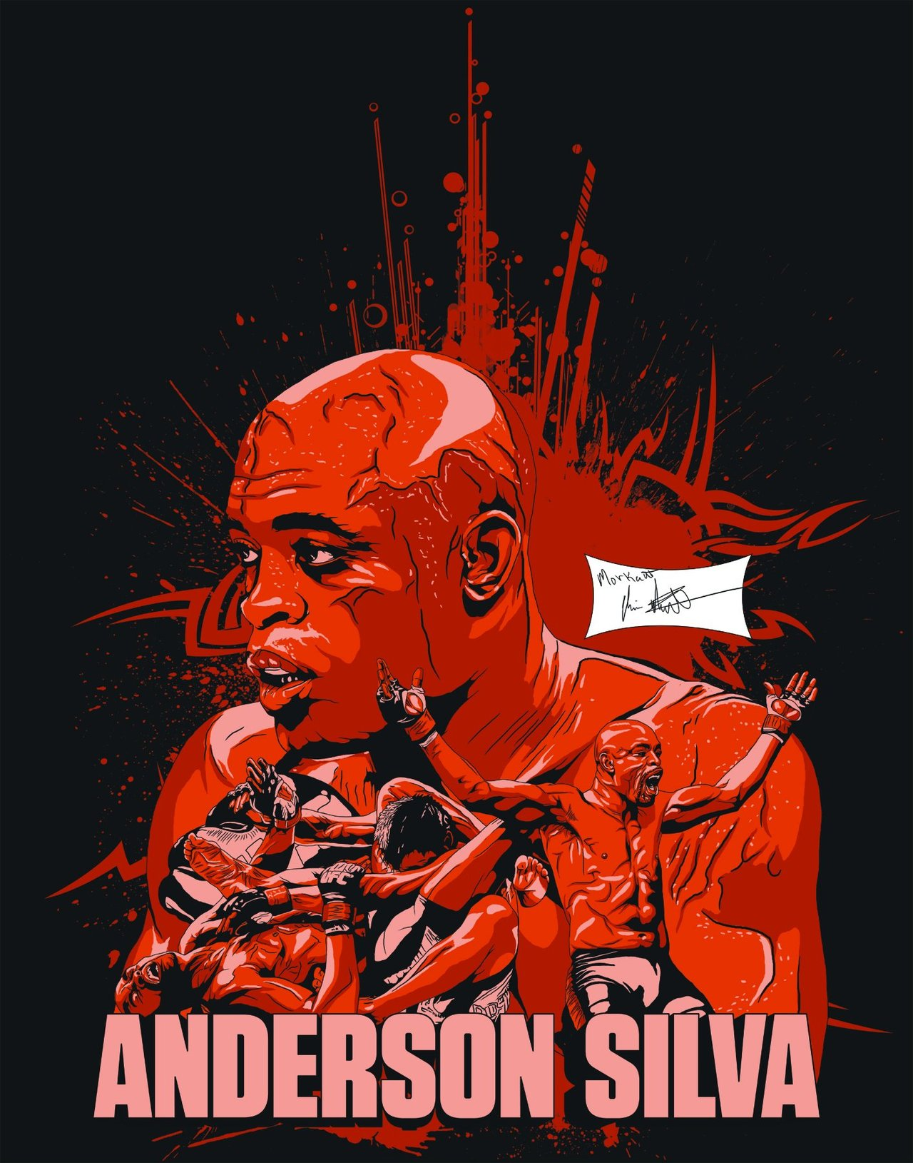 Anderson Silva Wallpaper By Chris Morkaut 1280x1629