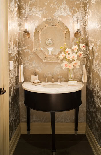 Free Download 25 Gorgeous Powder Rooms That Can Amaze Anybody Digsdigs 353x540 For Your Desktop Mobile Tablet Explore 49 Wallpaper Small Elegant Room Bold
