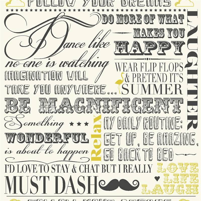 wallpaper with words in script