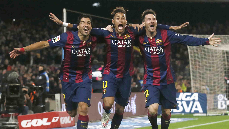 WALLPAPER Cei trei tenori   Messi Neymar Luis Suarez   FC BARCELONA 3060x1721