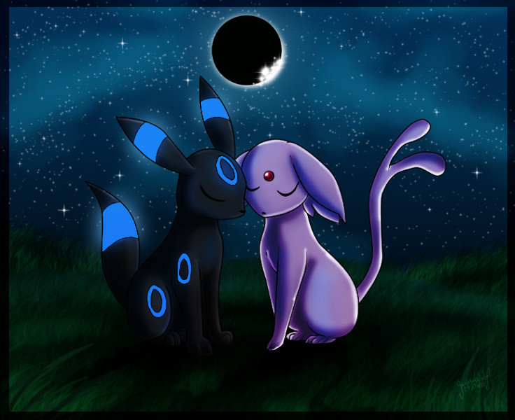 Umbreon And Espeon Wallpaper Umbreon and espeon by 736x600