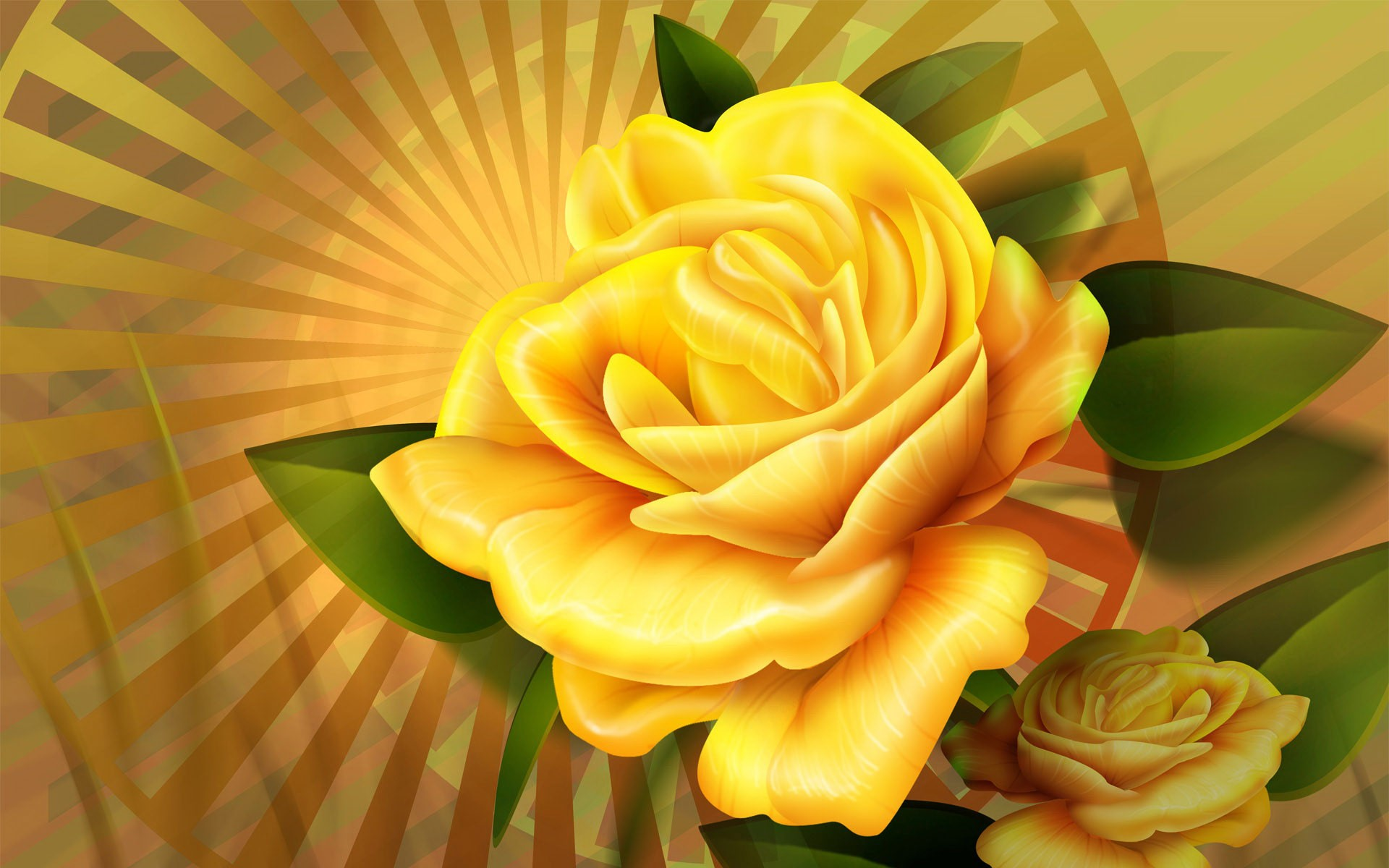 Photo Collection Bright Rose Wallpaper