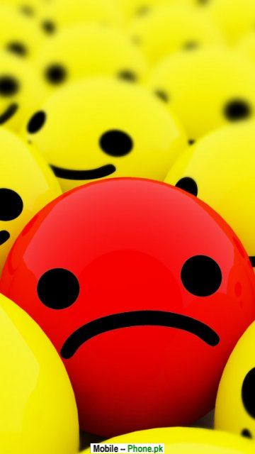 Smiley Wallpapers For Mobile Red sad smiley face wallpaper 360x640