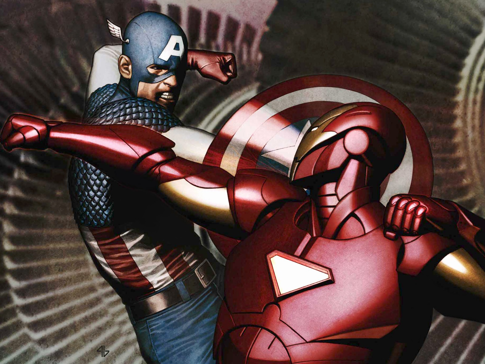 Free Download Iron Man And Captain America Desktop Wallpaper