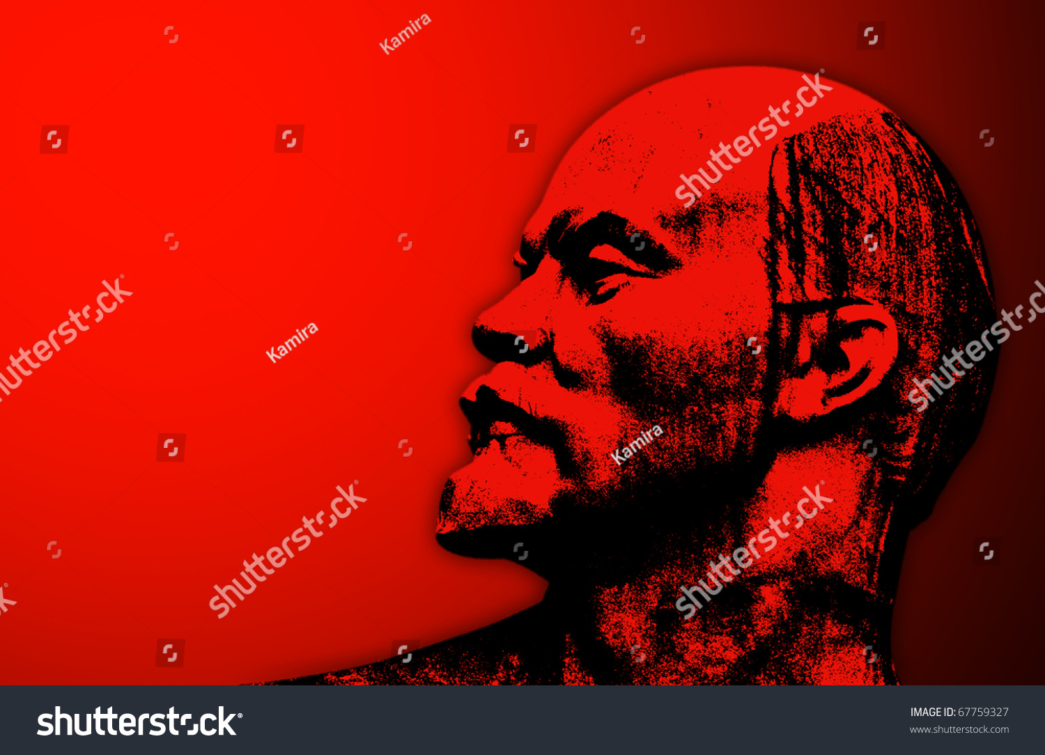 Stylized Head Lenin On Red Background Stock Photo Edit Now 67759327 1500x1084