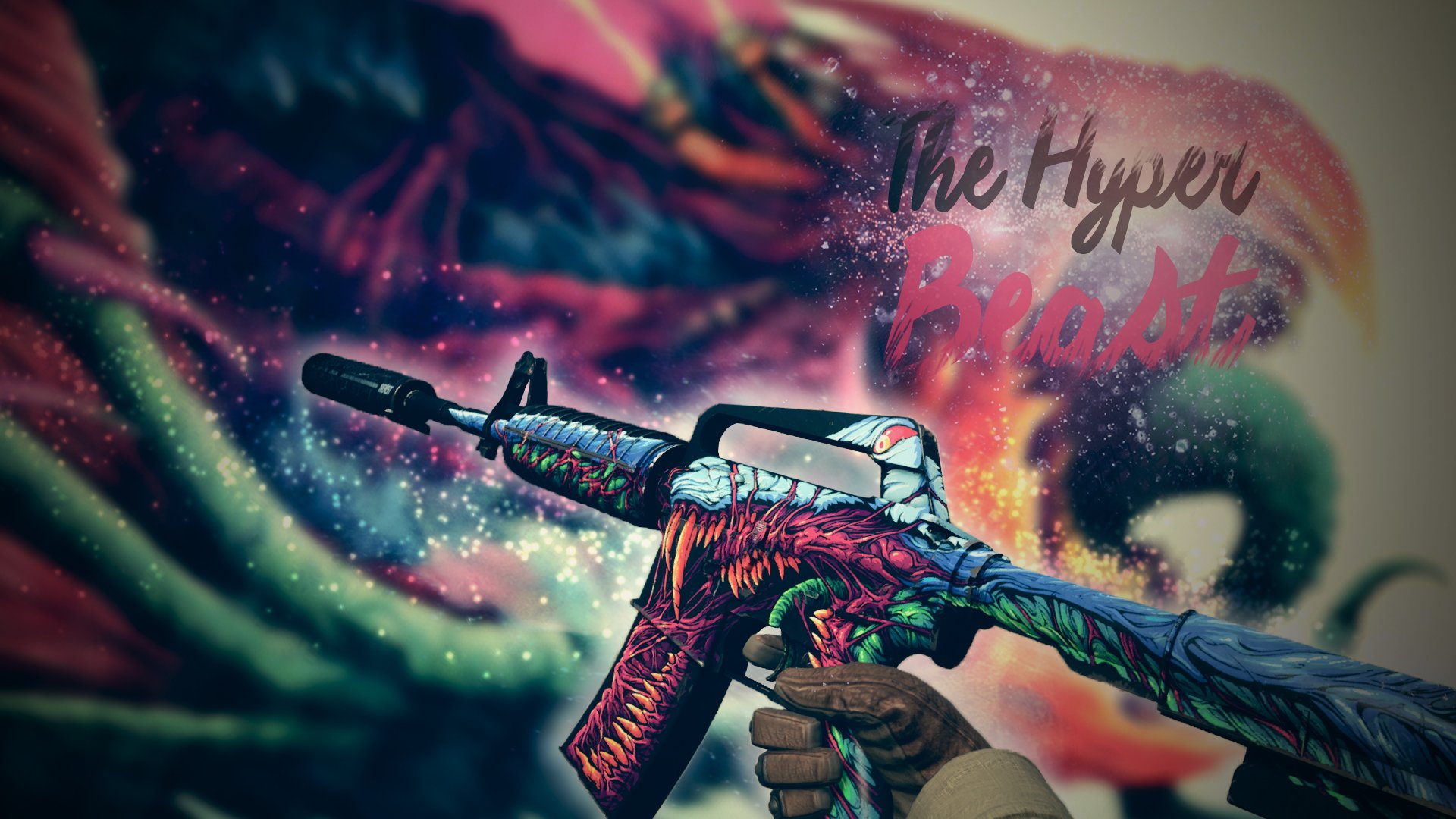 Art of CSGO skin   M4A1 S Hyper Beast by SequiCZ 1920x1080