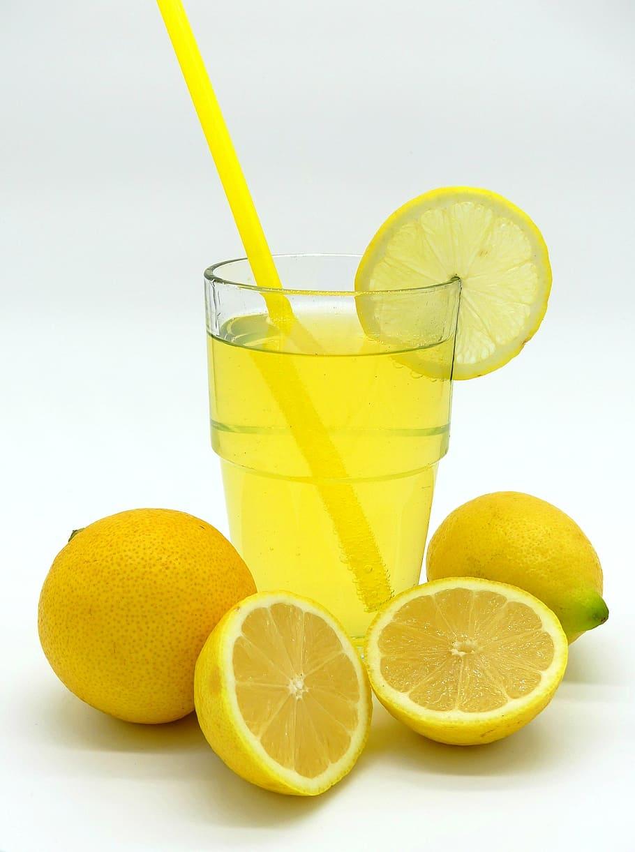 HD wallpaper clear glass cup filled with lemon juice lemonade 910x1221