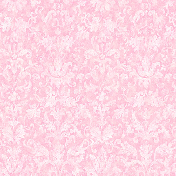 Distressed Damask Pink Prepasted Wallpaper   Wall Sticker Outlet 600x600