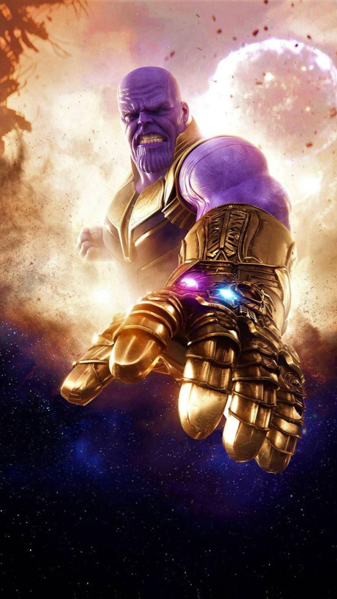 Thanos Avengers Infinity War 2018 Marvel vingadores Viles da 1080x1920