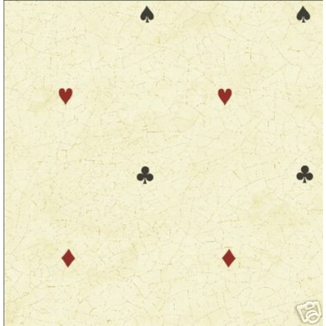 PLAYING CARDS SUITES CRACKLE WALLPAPER   All 4 Walls Wallpaper 650x650