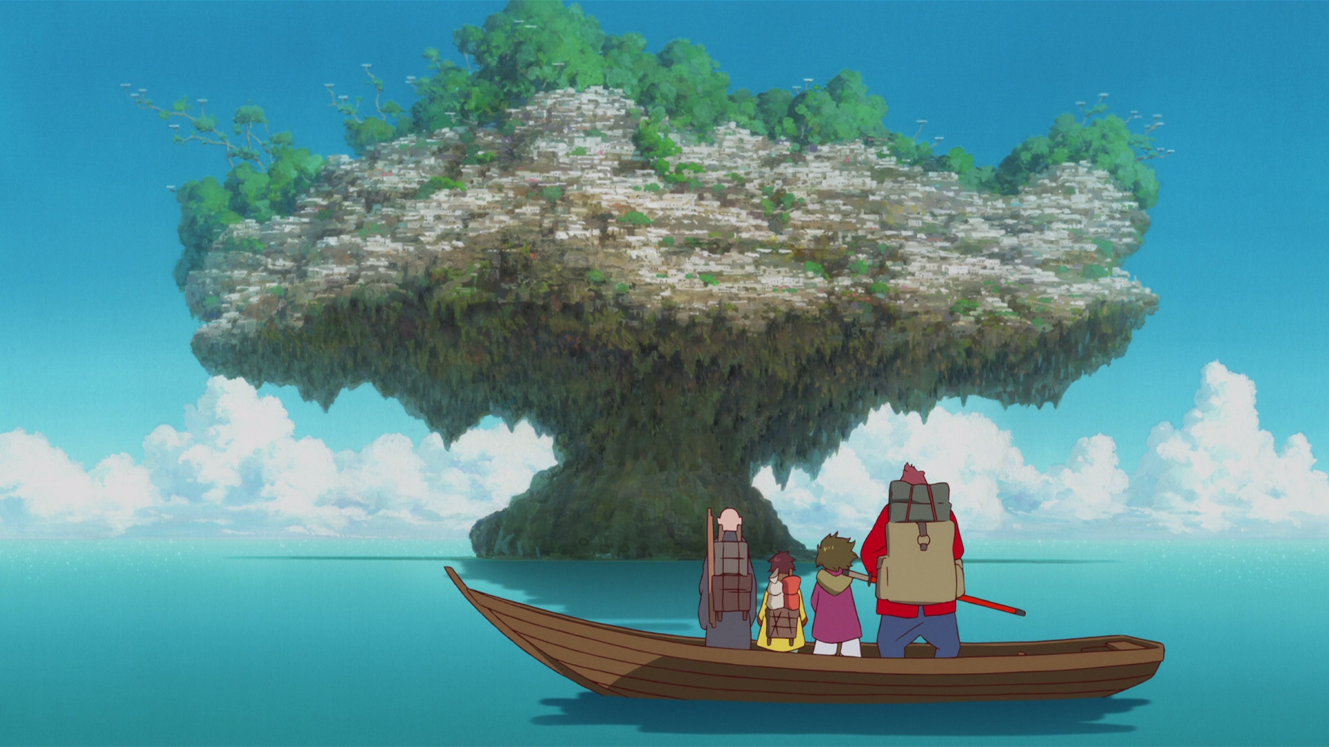 On the boat   Bakemono no Ko HD Wallpaper Background Image 1920x1080