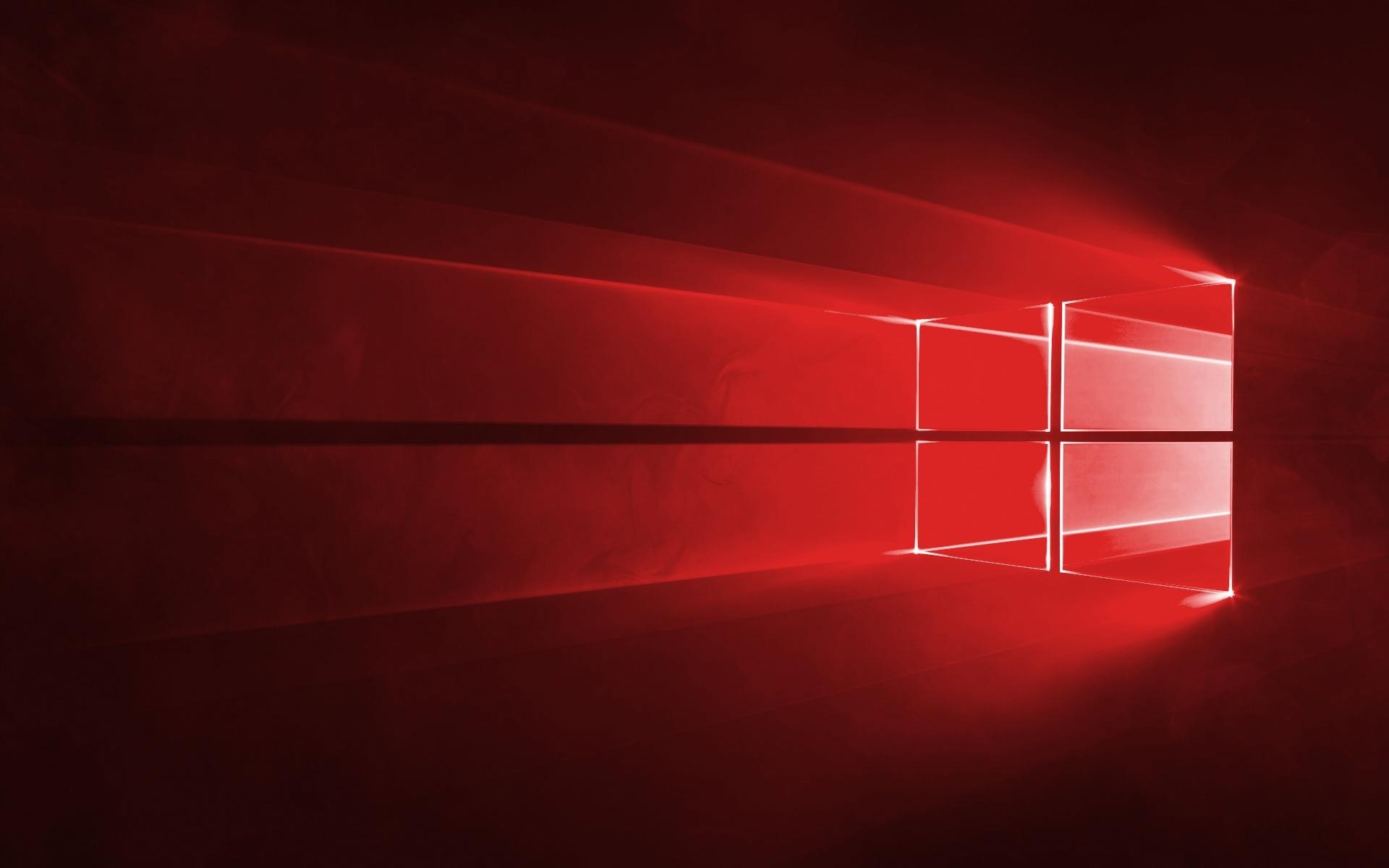 Red Windows 10 wallpaper 37885 1920x1200