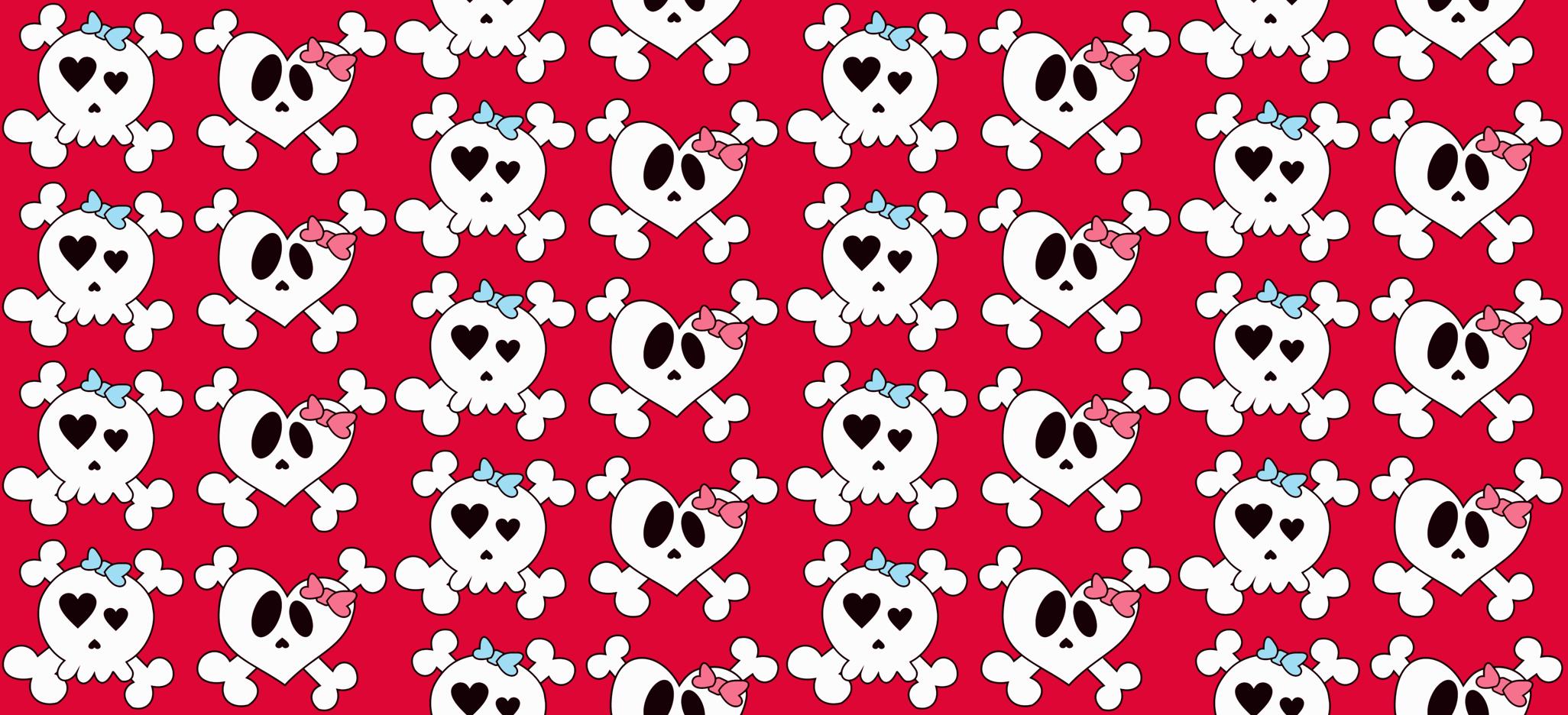 Girly Skull Wallpaper Girly skulls 2052x936