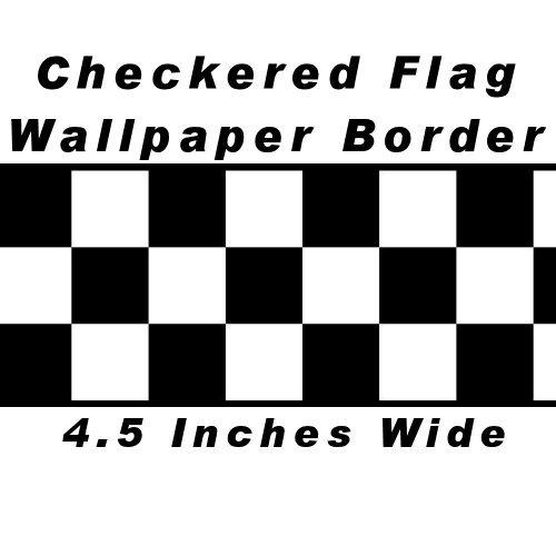 Checkered Flag Cars Nascar Wallpaper Border 45 Inch Black Edge 500x500