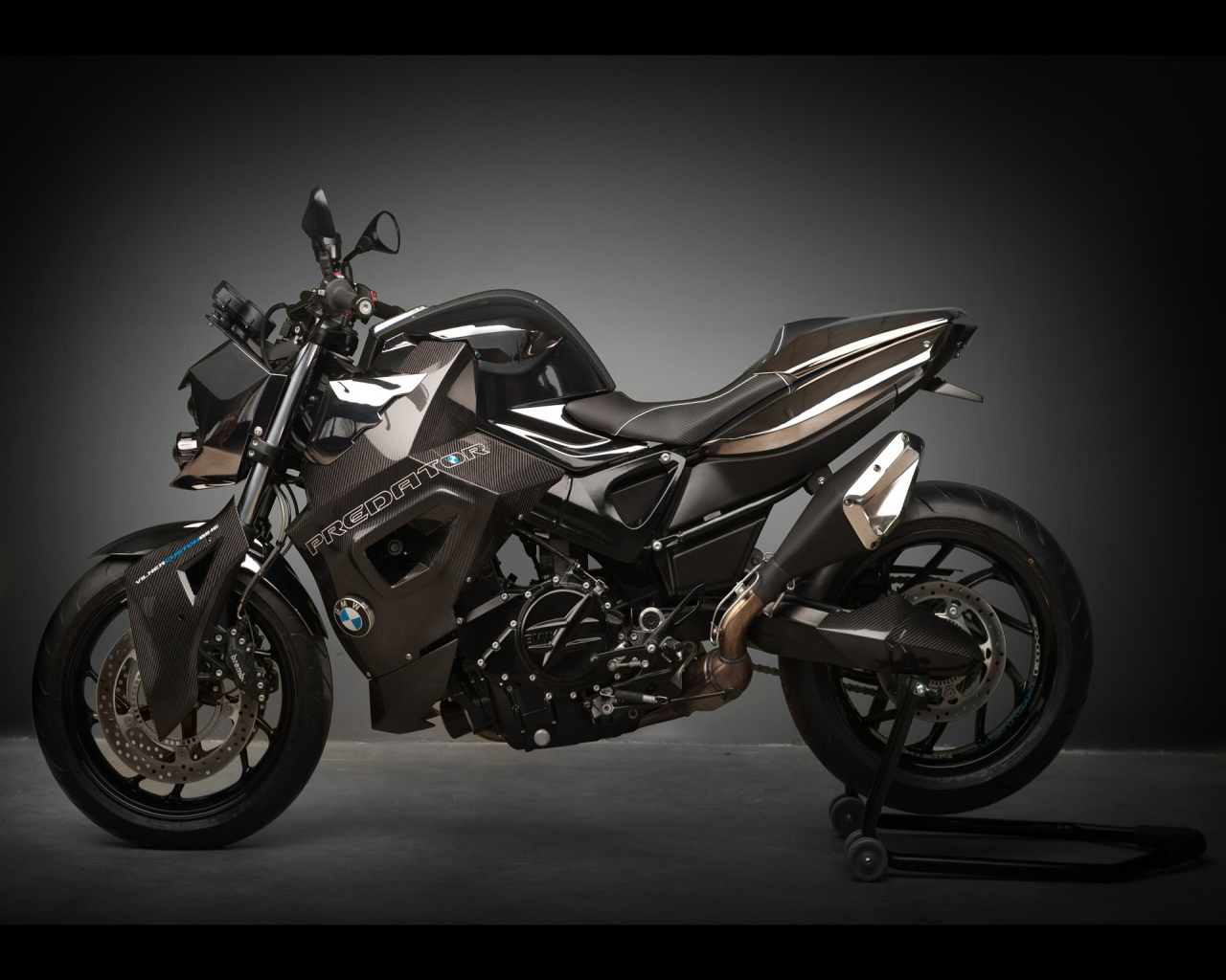 custom bike bmw f800 r predator static gray background wallpapers 1280x1024