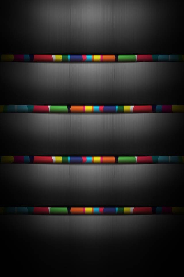 Colored Paper Roll Shelves iPhone 6 6 Plus and iPhone 54 Wallpapers 640x960