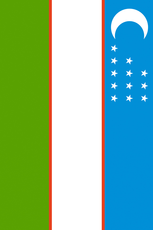 Uzbekistan Flag iPhone Wallpaper HD 640x960
