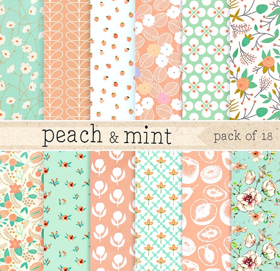Free Download Peach And Mint Digital Paper Green Lace Pattern Background Pink 570x551 For Your Desktop Mobile Tablet Explore 33 Peach And Green Wallpaper Peach And Green Wallpaper Peach
