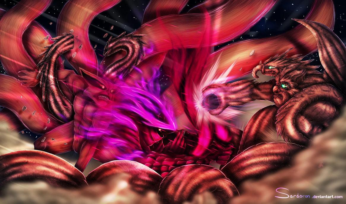 Kyuubi Susanoo Naruto Shippuden Anime HD Wallpaper Desktop Background 1165x686