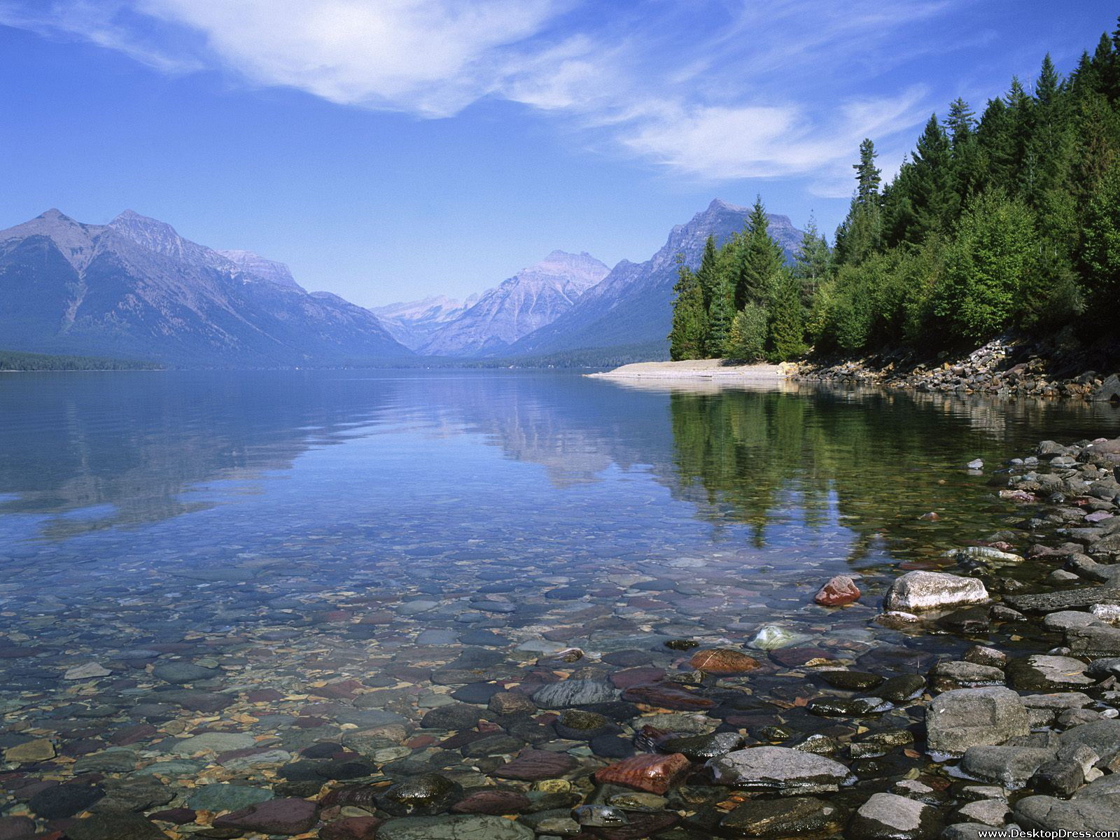 Desktop Wallpapers Natural Backgrounds Lake Mcdonald Glacier 1600x1200