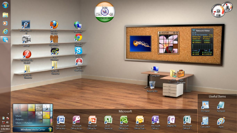The office desktop wallpaper wallpapersafari for My room wallpaper