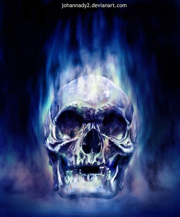 48+ Blue Fire Skull Wallpaper on WallpaperSafari