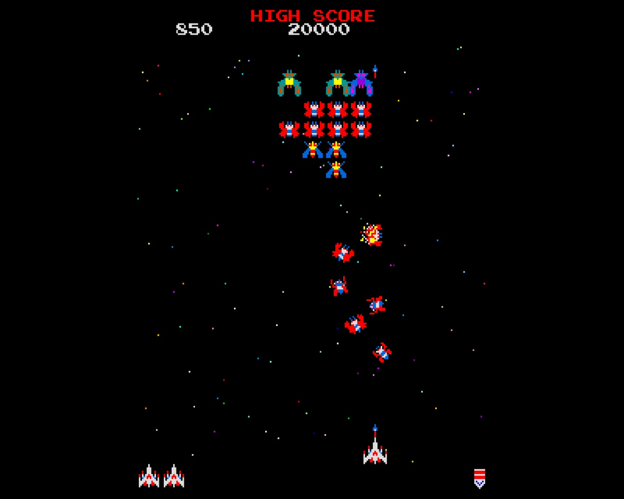 1280x1024 Retro Galaga desktop PC and Mac wallpaper 1280x1024
