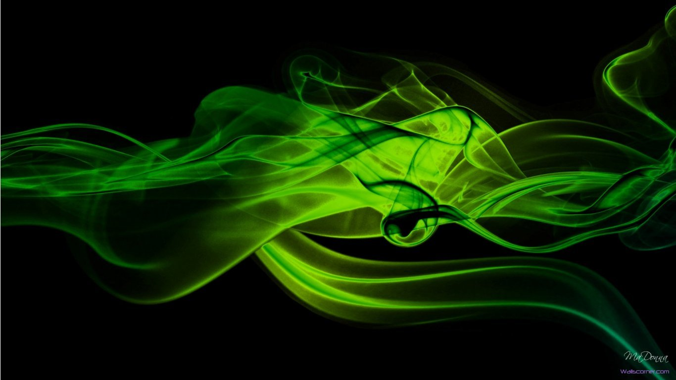 Green And Black Wallpaper   Wallpapers Magz 1366x768