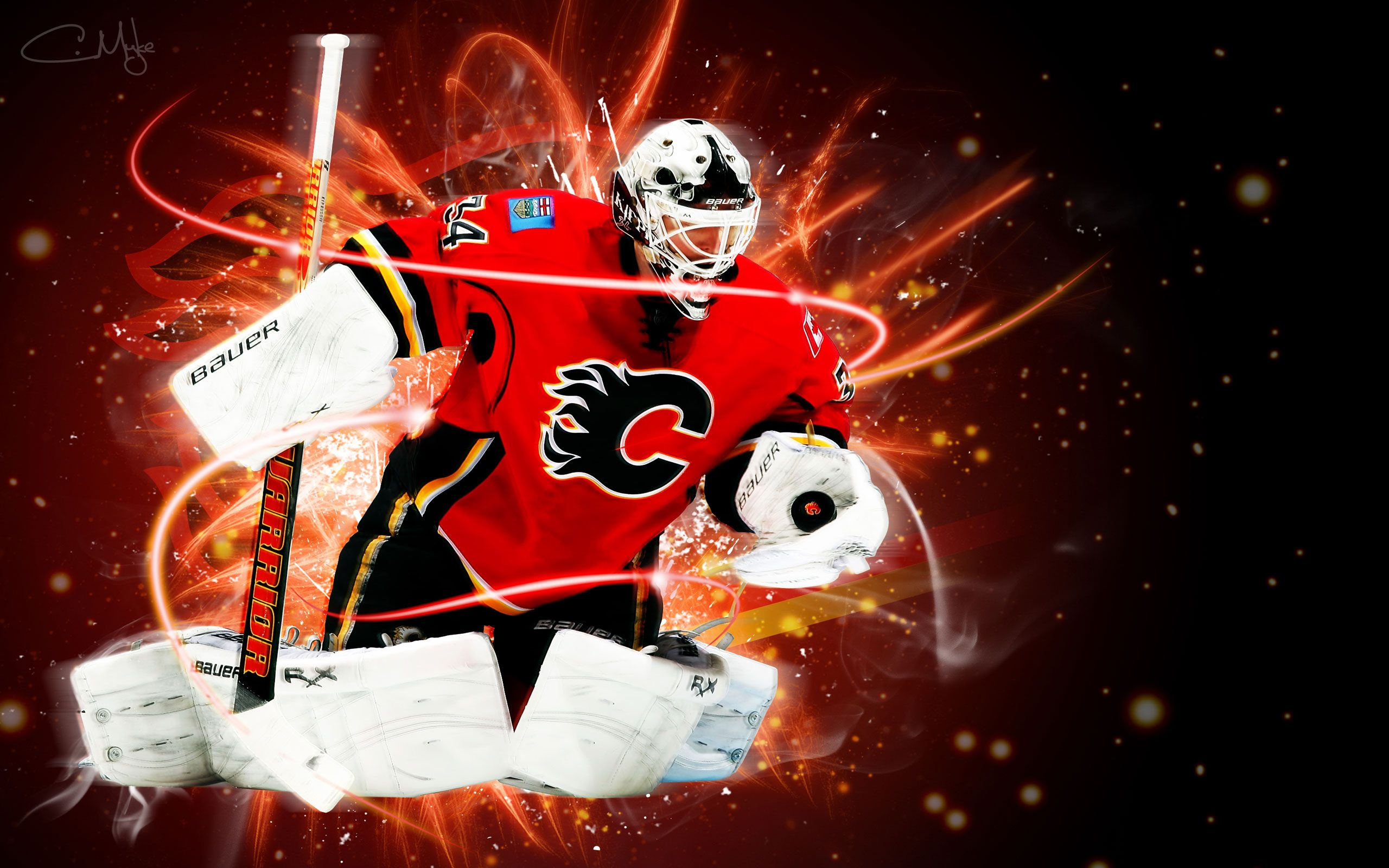 NHL Wallpapers   Miikka Kiprusoff Calgary Flames 2560x1600 wallpaper 2560x1600