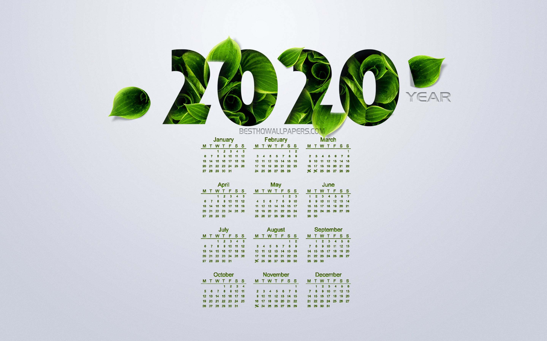 Free Download 2020 Calendar Wallpapers Top 2020 Calendar