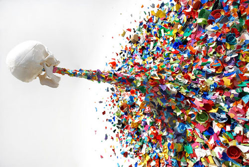 Stumbled upon this confetti installation by mistake Unfortunately we 500x335