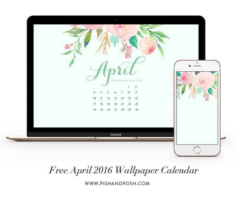 April 2016 Wallpaper and Calendar and Calendar 800x674