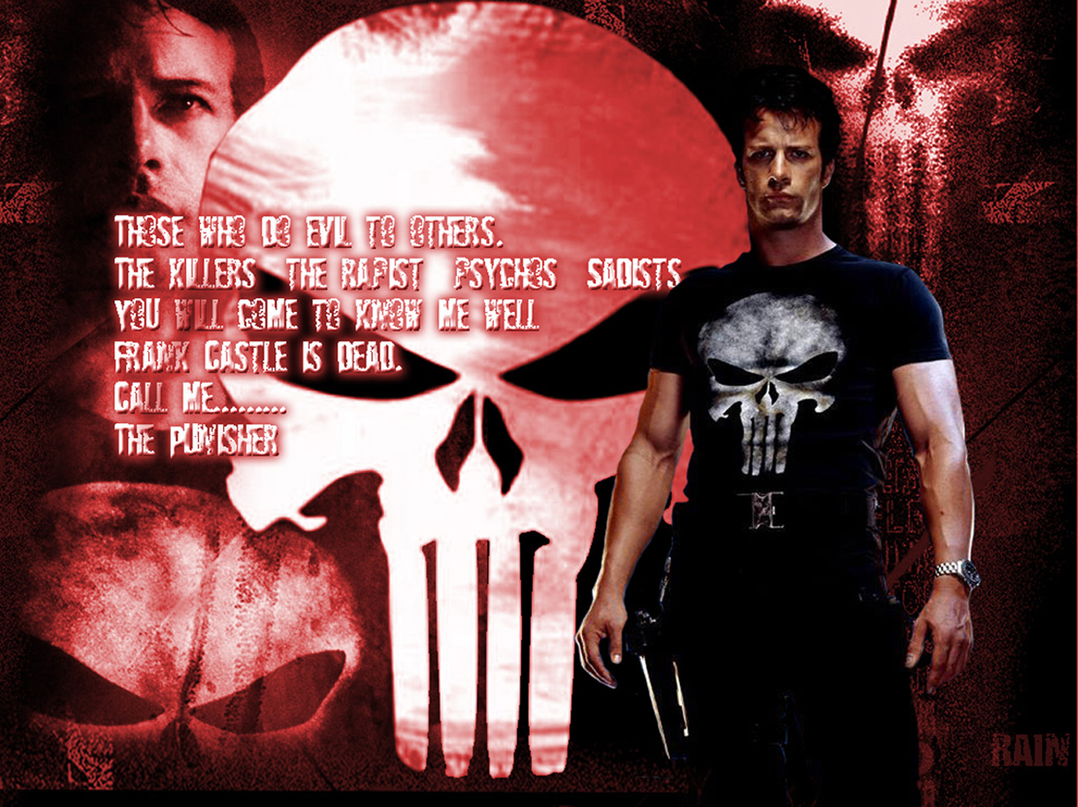The Punisher Wallpaper by InvisibleRainArt 1556x1166