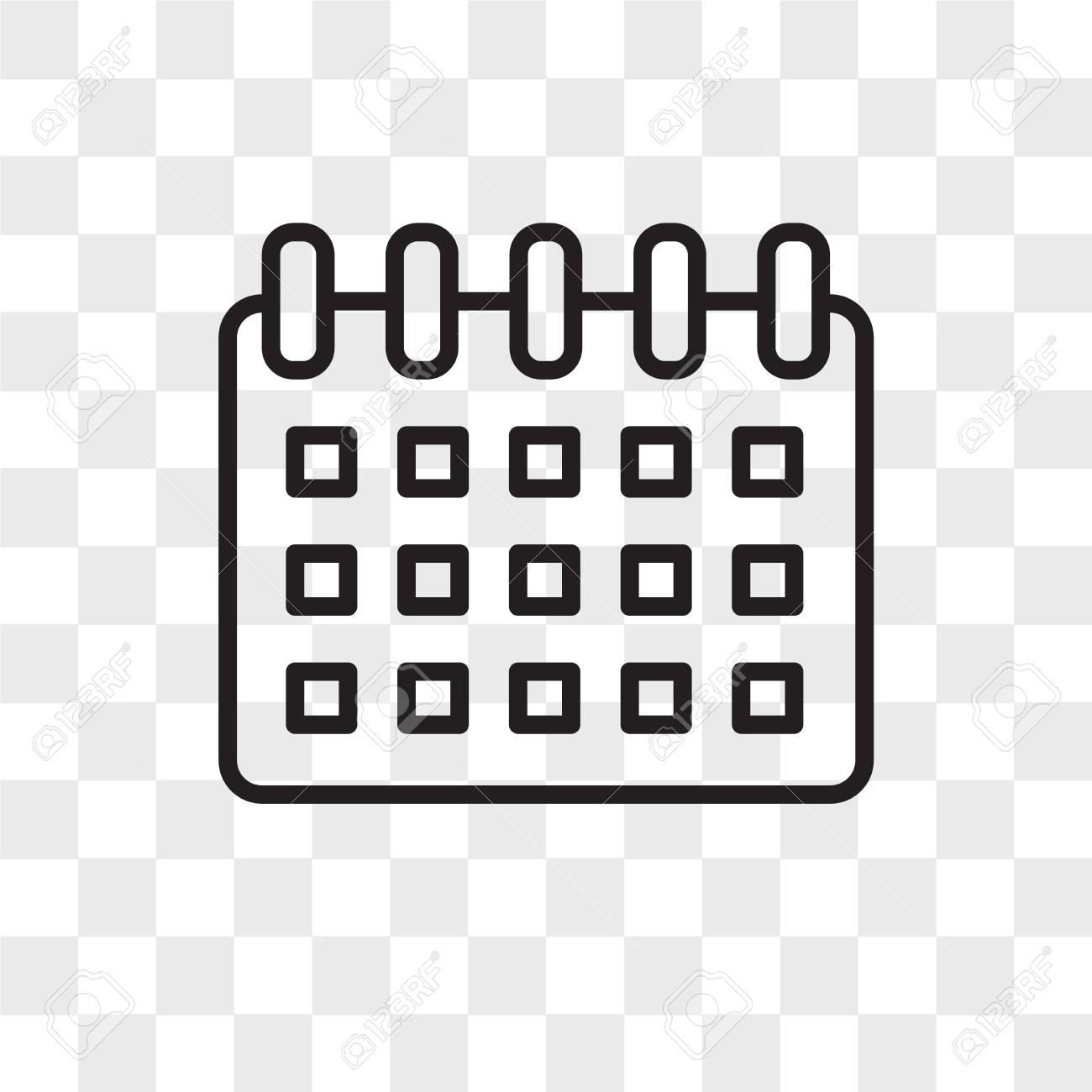 Calendar Vector Icon Isolated On Transparent Background Calendar 1300x1300