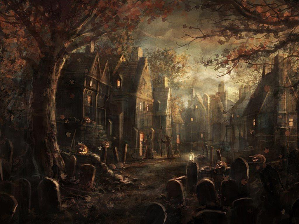 Spooky Halloween Wallpapers High Definition Wallpapers Desktop 1024x768