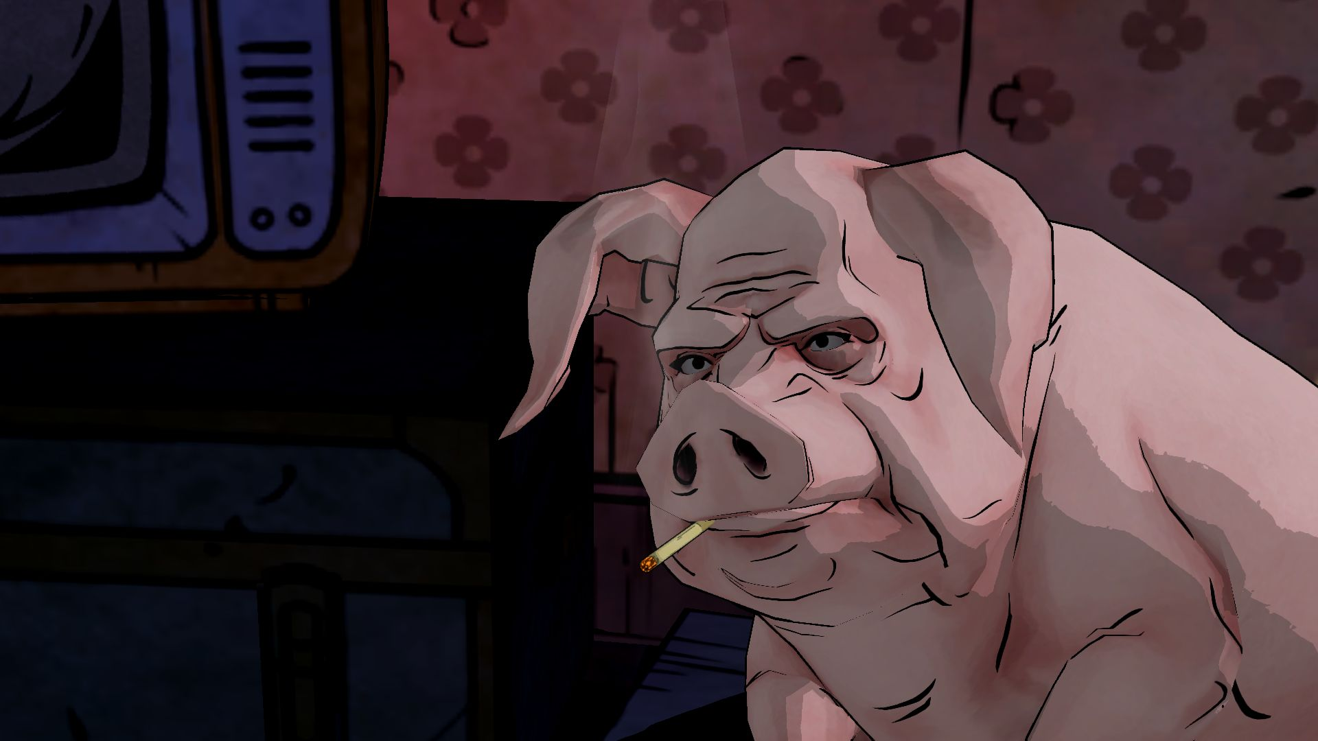 THE WOLF AMONG US game pig f wallpaper background 1920x1080