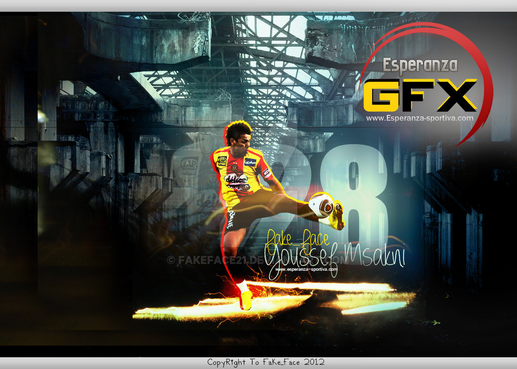 Youssef Msakni 28 Esperance Sportive De Tunis by FakeFace21 on 1024x731